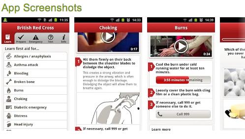 blackberry iphone red cross st john first aid app