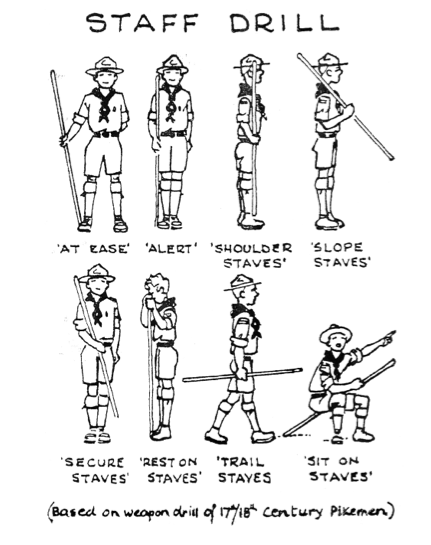 scout staff drill