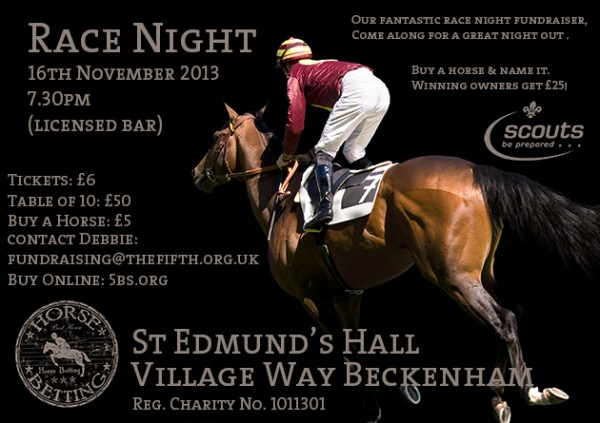 Advert for race night